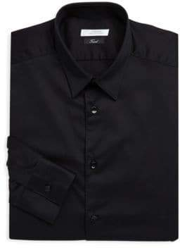 Versace Point Collar Cotton Dress Shirt