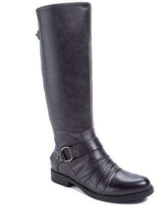 WEAREVER SHOES Wearever Shoes Womens Cansy Riding Boots Flat Heel Zip