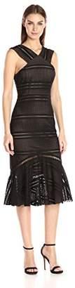 Tracy Reese Women's Flounced Halter Dress,L