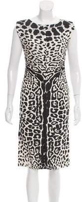 Saint Laurent Silk Cheetah Print Dress