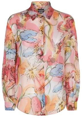 Moschino Silk Space Floral Shirt