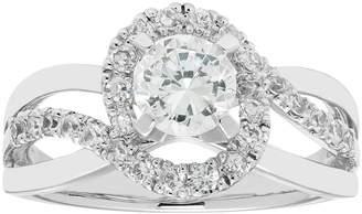 Boston Bay Diamonds 14k White Gold 1 Carat T.W. IGL Certified Diamond Bypass Engagement Ring