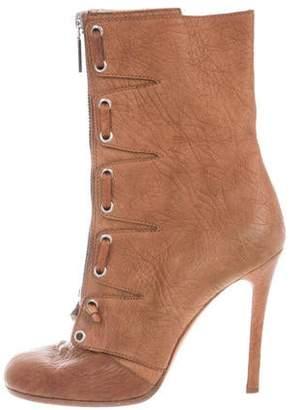 Giuseppe Zanotti x Thakoon Leather Round-Toe Boots