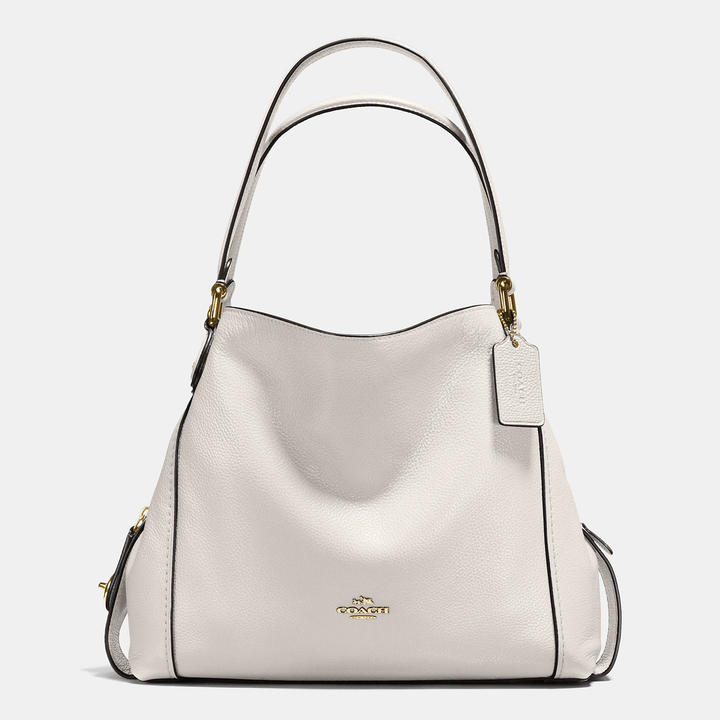 Coach  COACH Coach Edie Shoulder Bag 31 In Polished Pebble Leather