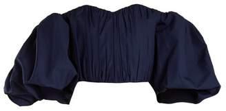 Ellery Bachelorette Off The Shoulder Cotton Top - Womens - Navy