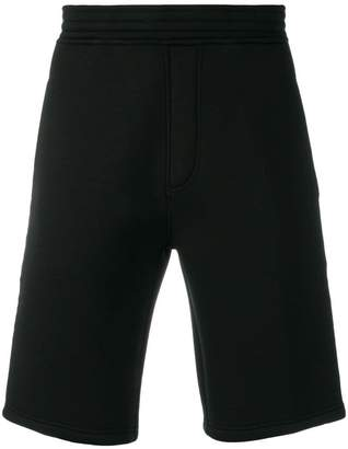 Neil Barrett fringed stripe shorts