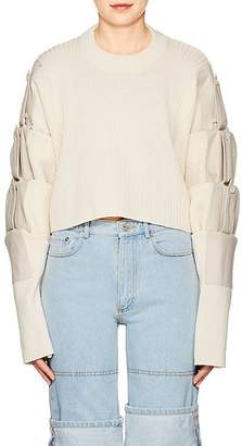 Y/Project Women's Convertible Wool & Canvas Crop Sweater