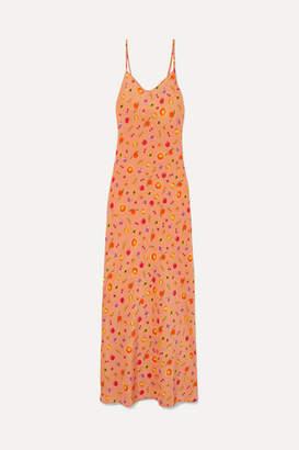 LHD - Elvira Silk Crepe De Chine Maxi Dress - Peach