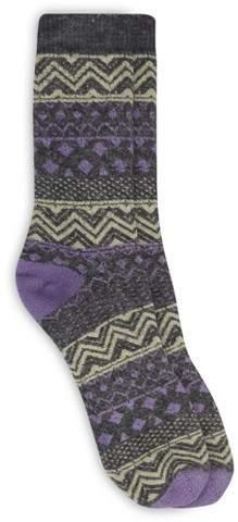 Alaska Knits Women's Stitch Crew Boot Socks - Charcoal 4-10