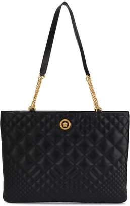 Versace oversized quilted shoulder bag