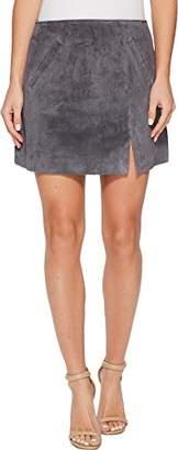 Blank NYC [BLANKNYC] Women's Grey Mini Skirt