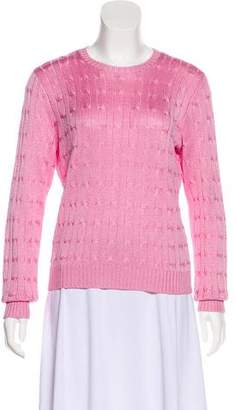 Ralph Lauren Black Label Cable Knit Silk Sweater