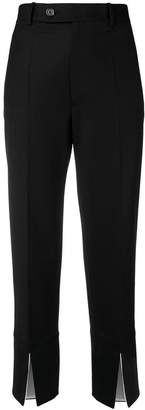 Helmut Lang cropped slit trousers