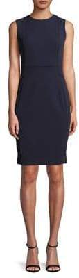 Calvin Klein Scuba Crepe Sleeveless Sheath Dress