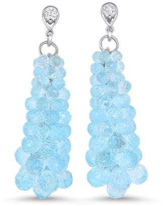 Alberto Blue Topaz Bubble Earring