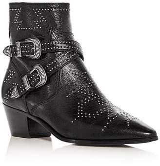 Frye Women's Ellen Western Studded Mid-Heel Booties