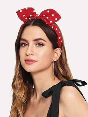 Shein Polka Dot Pattern Headband With Rabbit Ear