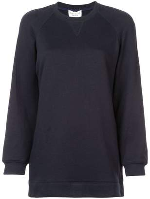 Derek Lam 10 Crosby Crewneck Sweatshirt Dress with Shirting Hem