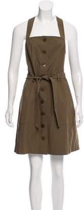Tibi Belted Sleeveless Dress