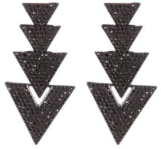 BaubleBar Davita Pave Triangle Drop Earrings
