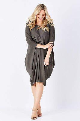 NEW bird by design Womens Knee Length Dresses 3/4 Sleeve Tulip Dress