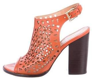 Rebecca Minkoff Leather Laser Cut Sandals