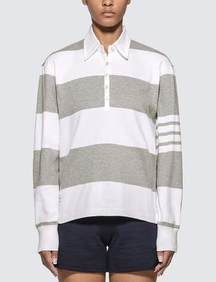 Thom Browne Oversized Long Sleeve Polo