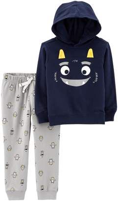 Carter's Baby Boy Monster Pullover Hoodie & Jogger Pants Set