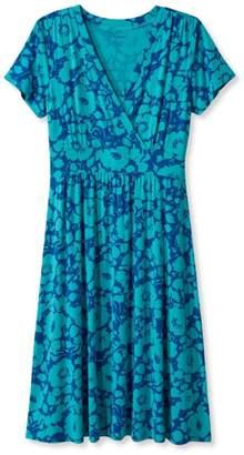 L.L. Bean L.L.Bean Summer Knit Dress, Short-Sleeve Bifloral