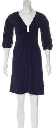 Just Cavalli Three-Quarter Sleeve Mini Dress