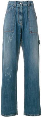 Valentino paint splatter wide jeans