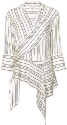 Nicole Miller departure stripe asymmetrical top