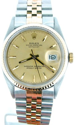 Rolex Datejust 1601 14K Yellow Gold & Stainless Steel 36mm Watch $10,900 thestylecure.com