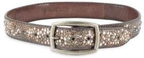 Frye Deborah Embellished Leather Belt