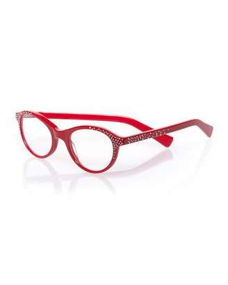 Eyebobs Soft Kitty Embellished Readers, Red