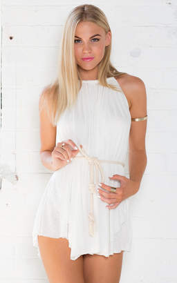Showpo Feel The Flow Dress in White