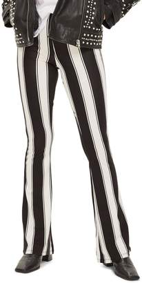 Topshop Stripe Flare Trousers