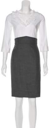 Rebecca Taylor Ruffled Knee-Length Dress