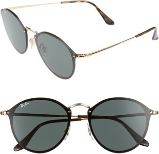 Ray-Ban Blaze 59mm Round Sunglasses