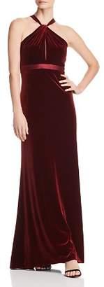 Aidan Mattox Satin-Trimmed Velvet Gown - 100% Exclusive