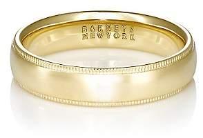 Barneys New York Men's Domed Band - Gold