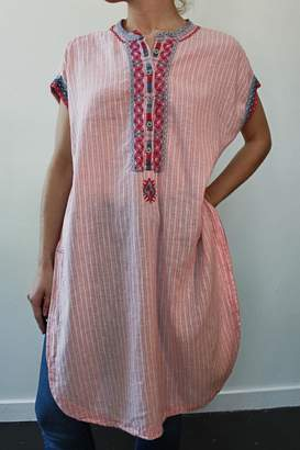 Johnny Was Downing Linen Tunic-Dress