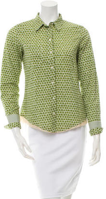 Paul Smith Printed Button-Up Top $70 thestylecure.com