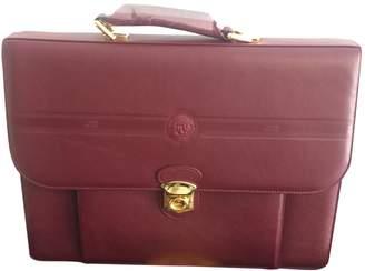 Gianni Versace Vintage Burgundy Leather Bag