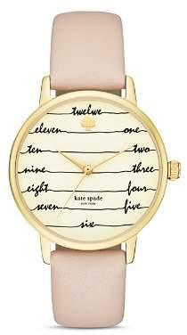 Kate Spade Chalkboard Metro Leather Strap Watch, 34mm