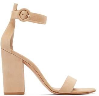 Gianvito Rossi Portofino 100 Suede Sandals - Womens - Nude