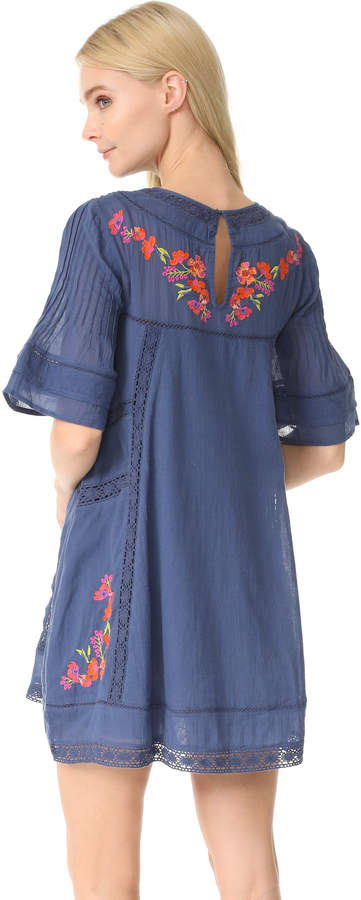 Free People Perfectly Victorian Embroidered Mini Dress 9