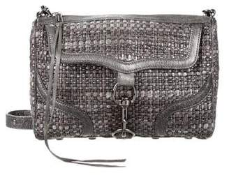 Rebecca Minkoff Leather-Trimmed Woven Bag