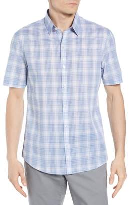 Zachary Prell Regular Fit Rogel Plaid Woven Shirt