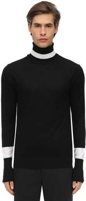 Neil Barrett Wool & Silk Knit Turtleneck Sweater
